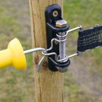 Double tape gate handle anchor