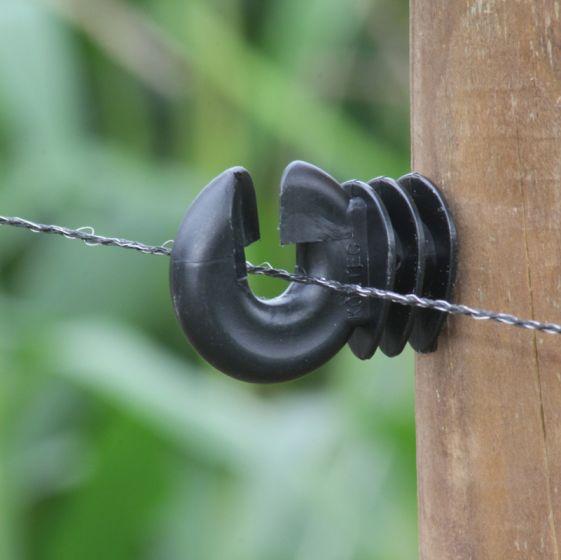 Wire, black, ca 2 mm