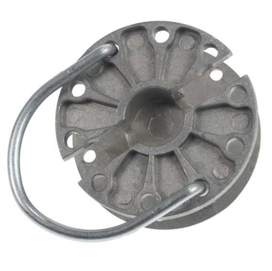 Rotor strainer for wire/rope