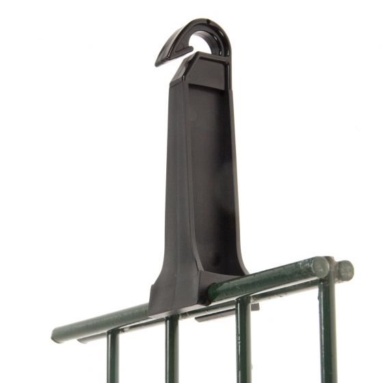 Fencerail clamp top insulator