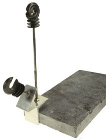 Pond edge clamps+insulators