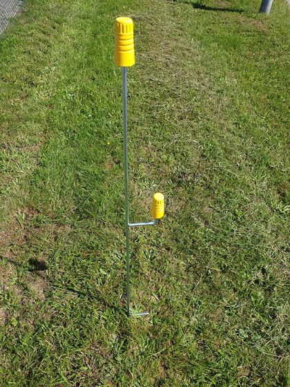Fence post, 1m incl. foot sup.
