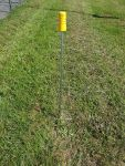 Fence post, incl. foot sup.
